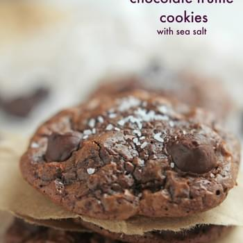 Chocolate Truffle Cookies with Sea Salt