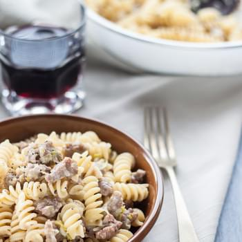Leek And Sausage Pasta