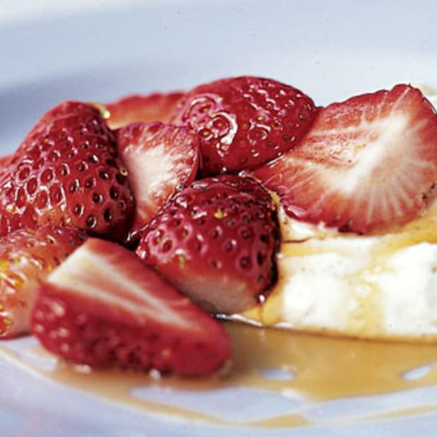 Vanilla Cream, Strawberries And Wild Flower Honey