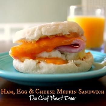 Ham, Egg & Cheese Muffin Sandwich