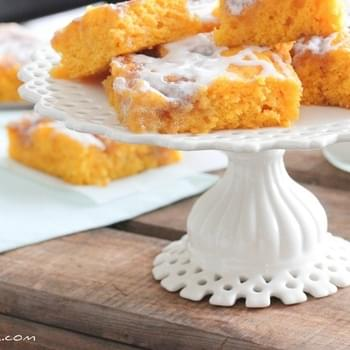 Cinnamon Roll Pumpkin Vanilla Sheet Cake