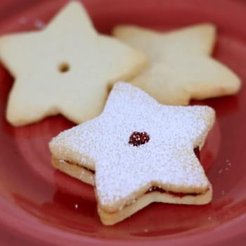 Shortbread Cookies with Raspberry Preserves
