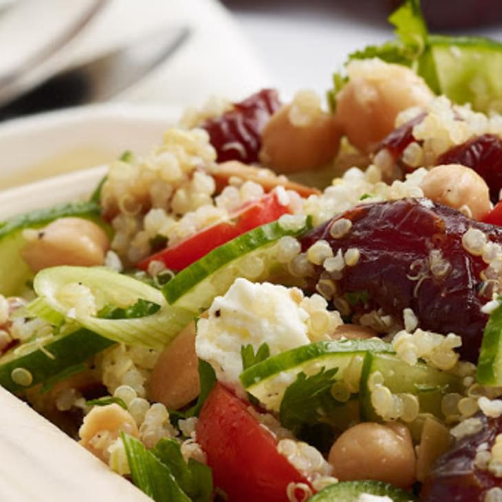 Quinoa with Chickpeas & Medjool Dates