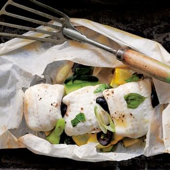 Fish in Parchment with Zucchini