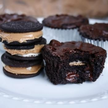 Oreo-Peanut Butter Brownie Cups