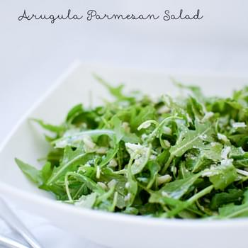Arugula Parmesan Salad with Simple Lemon Vinaigrette