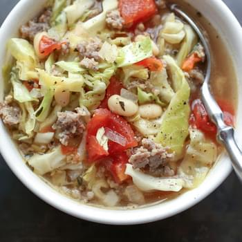 Italian White Bean, Cabbage, and Sausage Soup