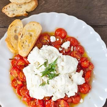 Roasted Tomatoes and Goat Cheese