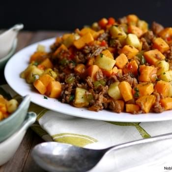 Sausage and Sweet Potato Hash