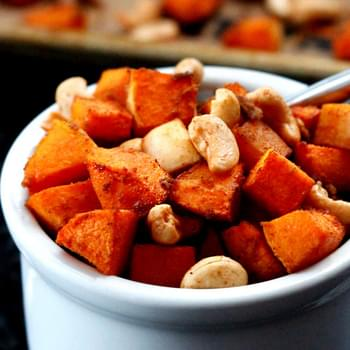 Asian Roasted Butternut Squash and Cashews
