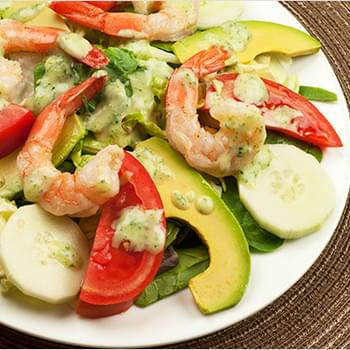 Shrimp and Avocado Salad with Creamy Tarragon Dressing