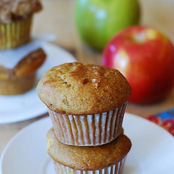 Pumpkin Banana Muffins With Apples And Cinnamon