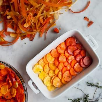 Roasted Citrus Thyme Ombré Carrots