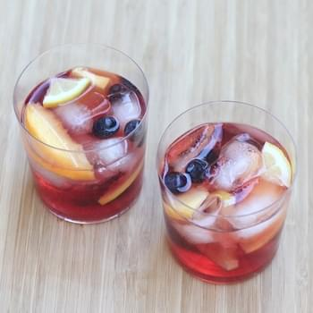 Pink Rose Wine Sangria Recipe (small batch)