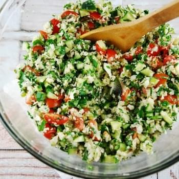 Low Carb Cauliflower Tabbouleh