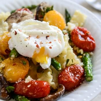 Spring Pasta with Blistered Tomatoes and Eggs