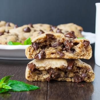 Mocha Mint Chocolate Chip Cookies