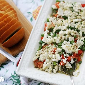 Easy Peasy Greek Dip Appetizer – 5 minutes or less!