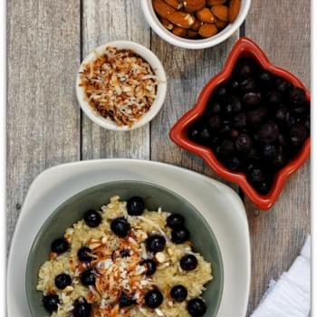 Recipe for Slow Cooker Blueberry-Coconut Breakfast Quinoa