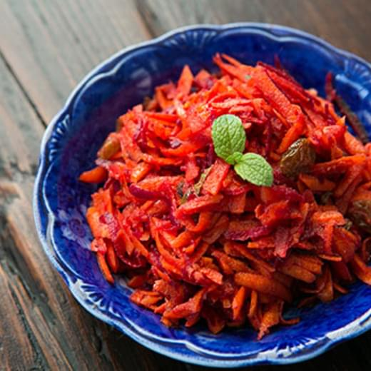 Moroccan Grated Carrot and Beet Salad