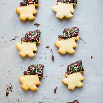 Christmas Tree Chocolate Dipped Cookies
