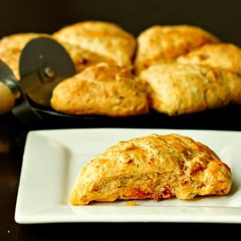 Sundried Tomato, Chives and Goat Cheese Scones