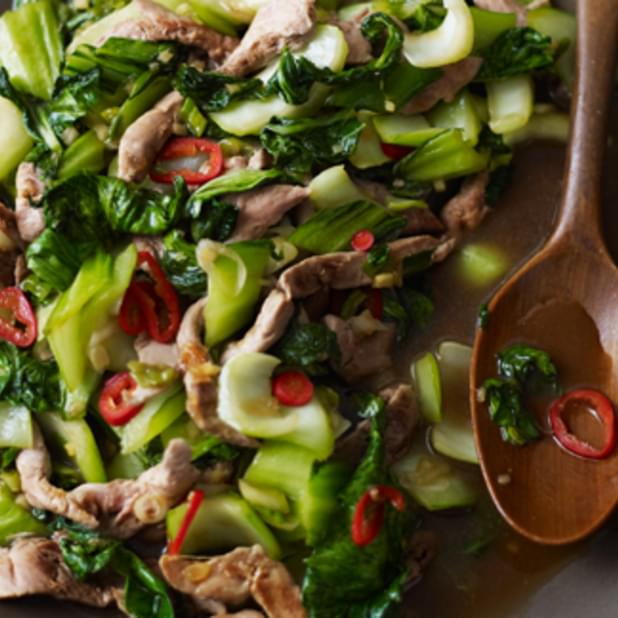 Duck Stir-fry With Ginger And Greens