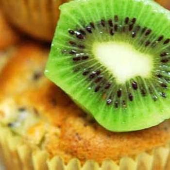 Clean Eating Kiwi Flax Muffins