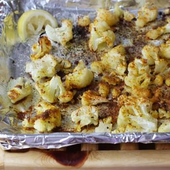 Oven Roasted Curried Cauliflower