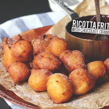 Ricotta Fritters with Chocolate Orange Sauce