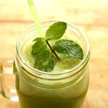 Green Apple, Cucumber, Jalapeño and Mint Juice