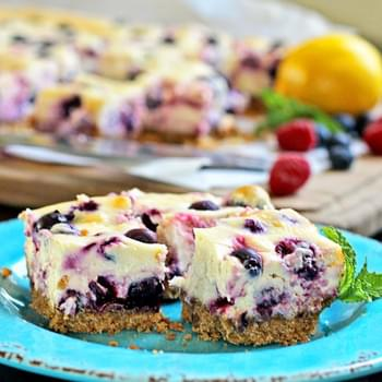Lemon Berry Cheesecake Bars