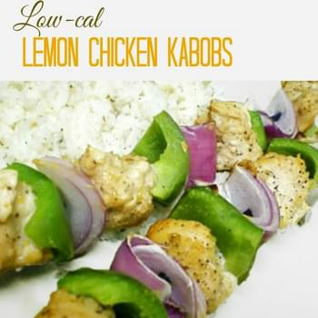 Low Fat Lemon Chicken Kabobs