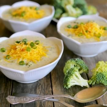 Kicked Up Broccoli-Cheese Soup