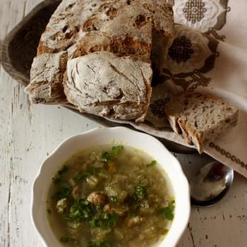 Winter Thistle Soup With Veal From Abruzzo