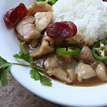 Chicken in Brown Gravy over Rice