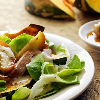 Smoked Chicken, Pumpkin and Apple Salad