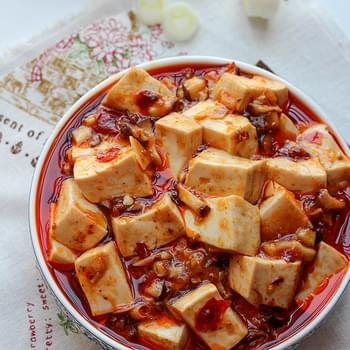 Vegetarian Mapo Tofu with Mushrooms