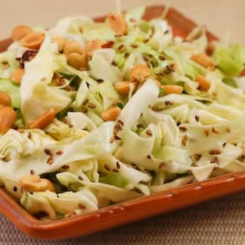 Asian Cabbage Salad with Sesame Seeds