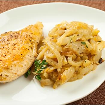 Chicken and Caramelized Fennel with Orange Rosemary