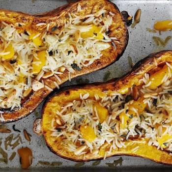 Sage, Pine Nut And Rice Stuffed Squash
