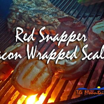Grilled Red Snapper and Bacon Wrapped Scallops
