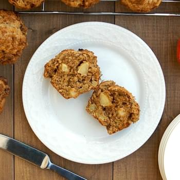 Whole Wheat Apple Oat Muffins
