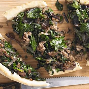 Lamb And Spinach Pide
