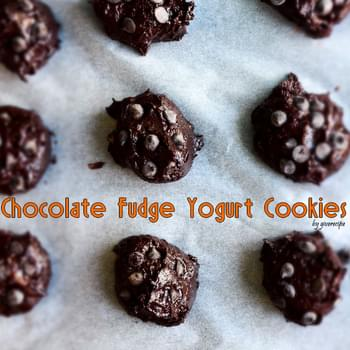 Chocolate Fudge Yogurt Cookies