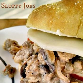 Turkey Cheesesteak Sloppy Joes