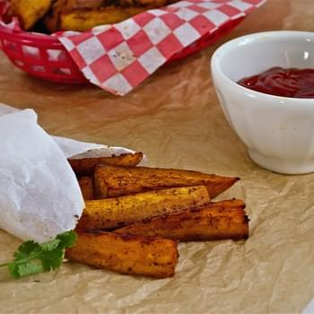 Spicy Orange Baked Sweet Potato Fries