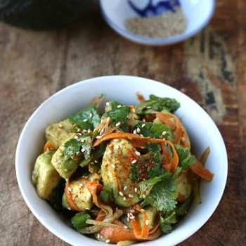 Avocado Carrot Salad With Ponzu
