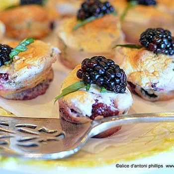 ~blackberry And Fresh Basil Dessert Bites~