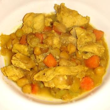 Moroccan Chicken and Chickpea Stew